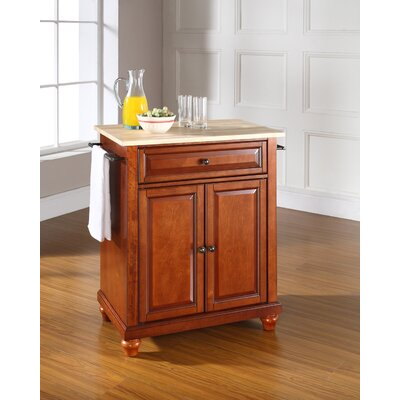 Goreville Kitchen Cart Base Finish: Classic Cherry