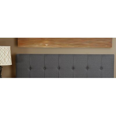 Dawn Upholstered Panel Headboard Size: Queen, Upholstery: Grey