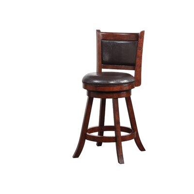 Enmore 24 Swivel Bar Stool Finish: Hazelnut
