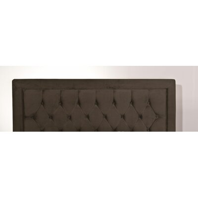 Tux Upholstered Panel Headboard Size: Queen, Upholstery: Chocolate