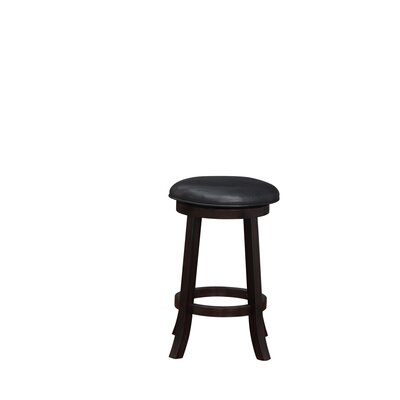 Elsa  24 Swivel Bar Stool Finish: Merlot