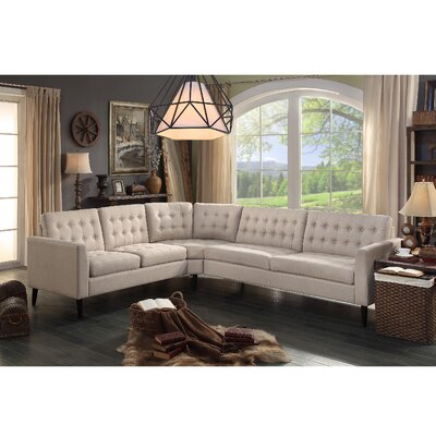 Starner Curved Shape Sectional Upholstery: Beige