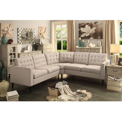 Alderbrook Sectional Upholstery: Beige
