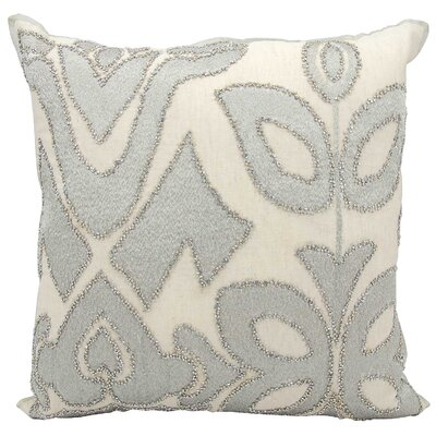 Ravenna Cotton Throw Pillow Color: Gray/Beige