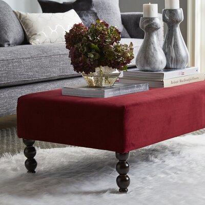 Seldon Cocktail Ottoman Upholstery: Red Velvet