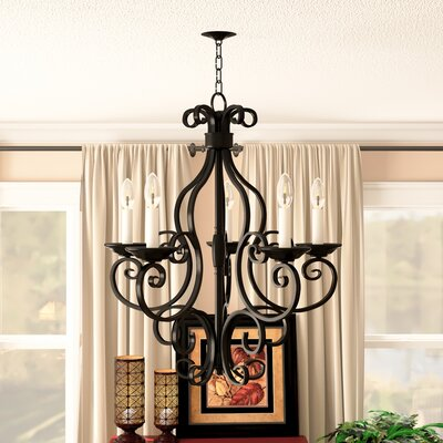 Amelia 5-Light Shaded Chandelier Finish: Oil Rubbed Bronze