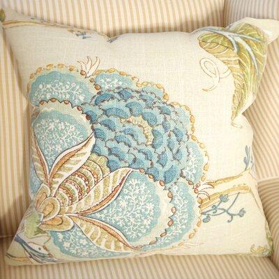 Gare Floral Linen Throw Pillow Size: 18 x 18