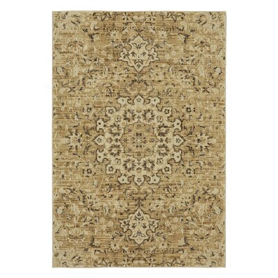 Lakemont Beige/Gold Area Rug Rug Size: Rectangle 53 x 710