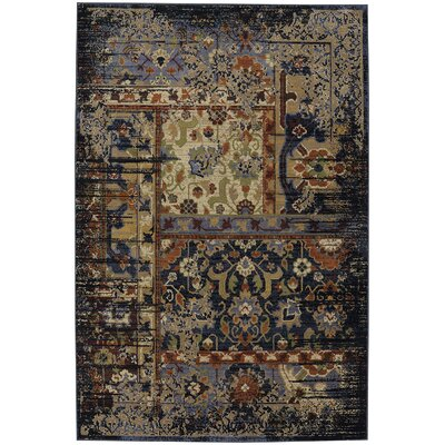 Brookes Black Area Rug Rug Size: Rectangle 96 x 1211