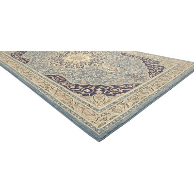 Lakemont Blue Area Rug Rug Size: 53 x 710