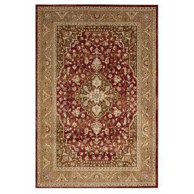 Lakemont Machine Woven Red Area Rug Rug Size: Rectangle 53 x 710