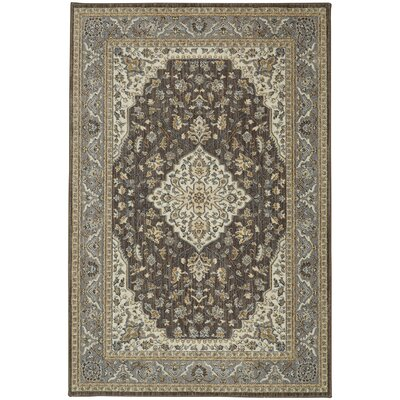 Lakemont Machine Woven Gray/Taupe Area Rug Rug Size: 53 x 710