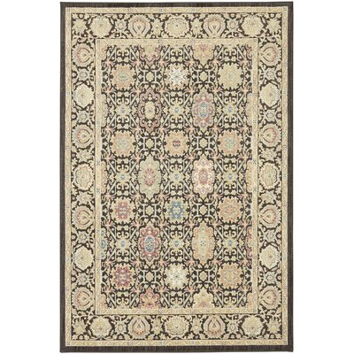 Lakemont Machine woven Black Area Rug Rug Size: Rectangle 53 x 710