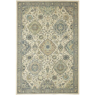Lakemont Beige/Blue Area Rug Rug Size: Rectangle 53 x 710