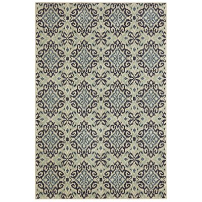 Lakemont Machine Woven Wool Gray/Aqua Area Rug Rug Size: Rectangle 8 x 10