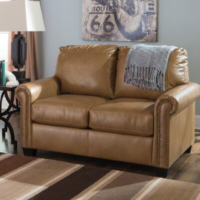 Hartshorne Twin Sleeper Loveseat Upholstery: Almond