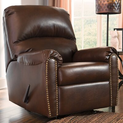 Hartshorne Manual Rocker Recliner Upholstery: Chocolate