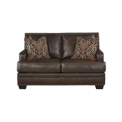 Almeda Leather Loveseat