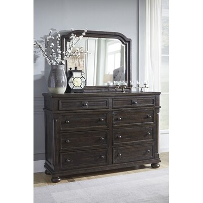 Almont 8 Drawer Dresser with Mirror