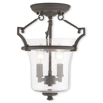 Richard 2-Light Semi-Flush Mount Finish: Bronze