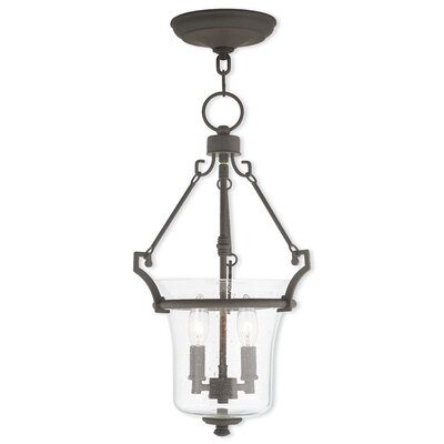 Richard 2-Light Foyer Pendant Finish: Brushed Nickel