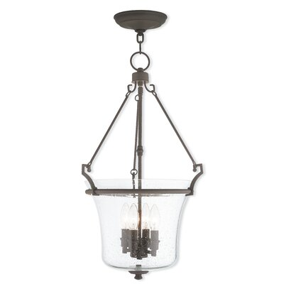 Richard 4-Light Foyer Pendant Finish: Brushed Nickel
