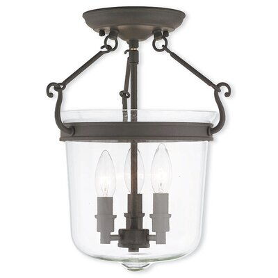 Walbridge 3-Light Foyer pendant Finish: Bronze