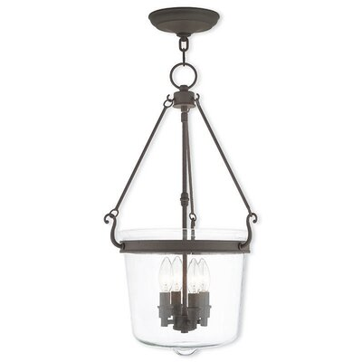 Walbridge 4-Light Foyer Pendant Finish: Bronze
