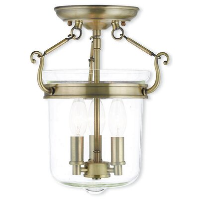 Walbridge 3-Light Foyer Pendant Finish: Antique Brass