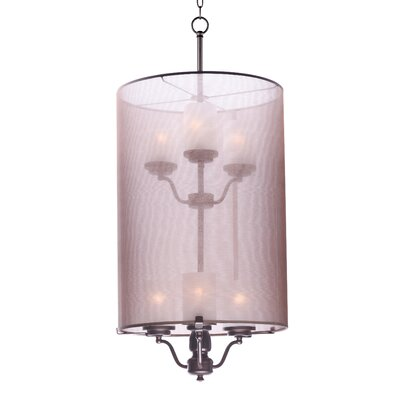 Tiltonsville 6-Light Shaded Chandelier Finish: Satin Nickel