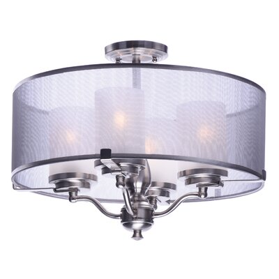 Tiltonsville 4-Light Semi-Flush Mount Finish: Satin Nickel
