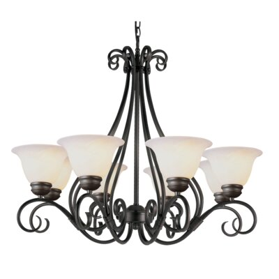 New Willowick 8-Light Shaded Chandelier