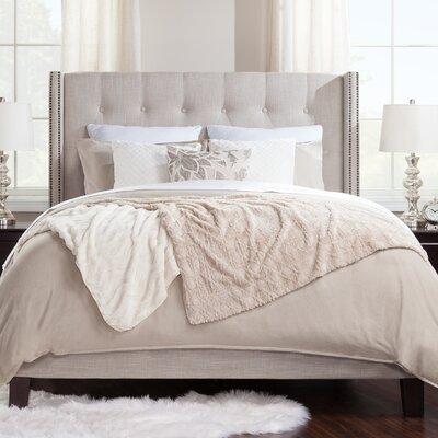 Birchwood Queen Upholstered Panel Bed