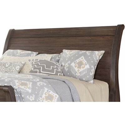 Brookhill Sleigh Headboard Size: King, Color: Rustic Gray