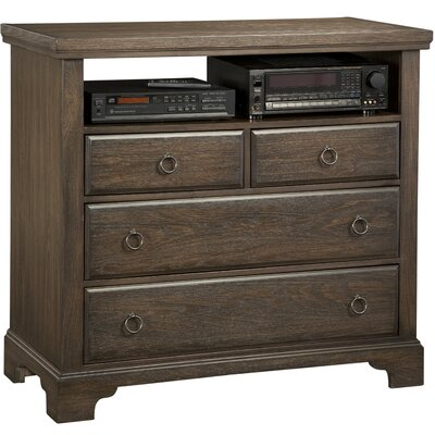 Brookhill 4 Drawer Media Chest Color: Dark Roast