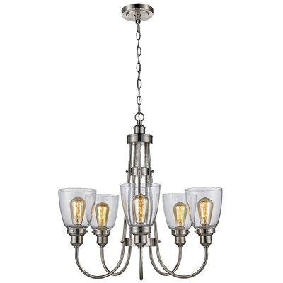 Birger 5-Light Shaded Chandelier