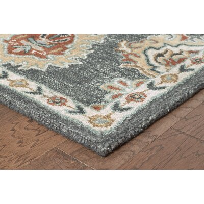 Janel Hand-crafted Gray Area Rug Rug Size: 79 x 99