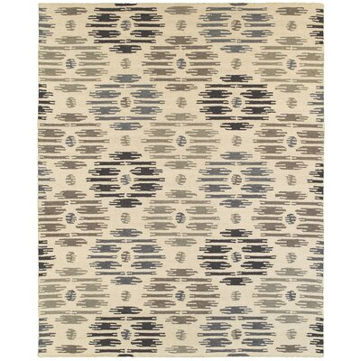 Paulding Hand-crafted Beige Area Rug Rug Size: 79 x 99