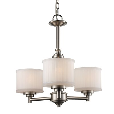 Wedgewood 3-Light Shaded Chandelier Finish: Brushed Nickel