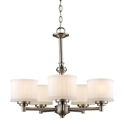 Wedgewood 5-Light Drum Chandelier Finish: Brushed Nickel