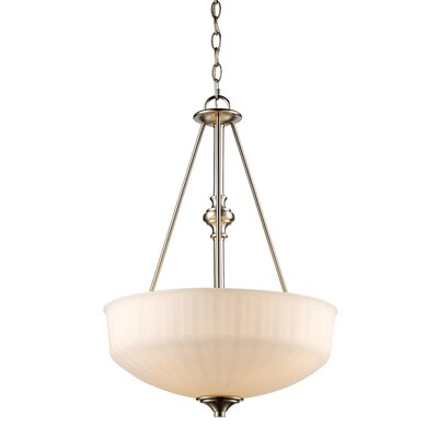 Wedgewood 3-Light Bowl Pendant Finish: Rubbed Oil Bronze