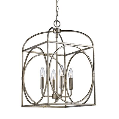 Eunice 4-Light Foyer Pendant Finish: Rubbed Oil Bronze