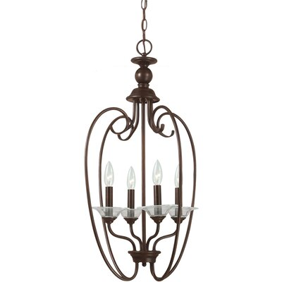 Verndale 4-Light Foyer Pendant Finish: Antique Brushed Nickel
