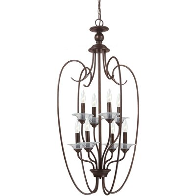 Weatherly 8-Light Foyer Pendant Finish: Burnt Sienna