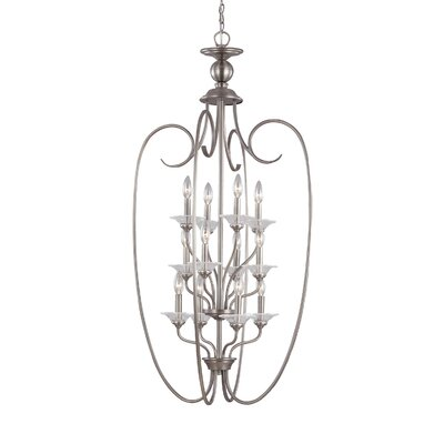 Weatherly 12-Light Foyer Pendant Finish: Antique Brushed Nickel