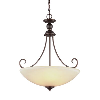 Weatherly 3-Light Inverted Pendant Finish: Burnt Sienna