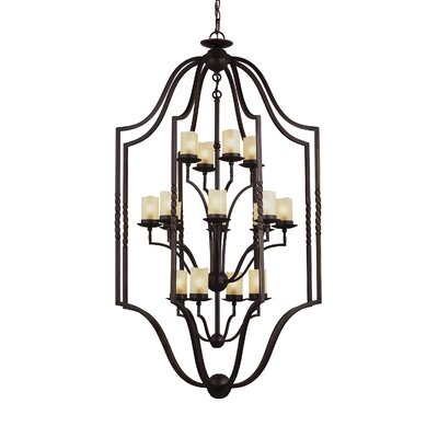 Bungalow 16-Light Foyer Pendant