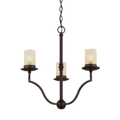 Bungalow 3-Light Candle-Style Chandelier