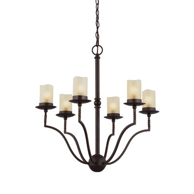 Bungalow 6-Light Candle-Style Chandelier