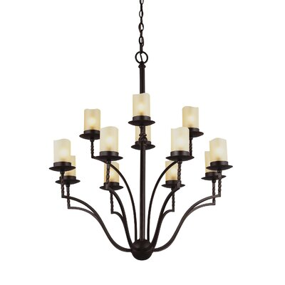 Bungalow 12-Light Candle-Style Chandelier